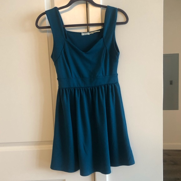 Kimchi Blue Dresses & Skirts - Urban Outfitters Teal Skater Dress